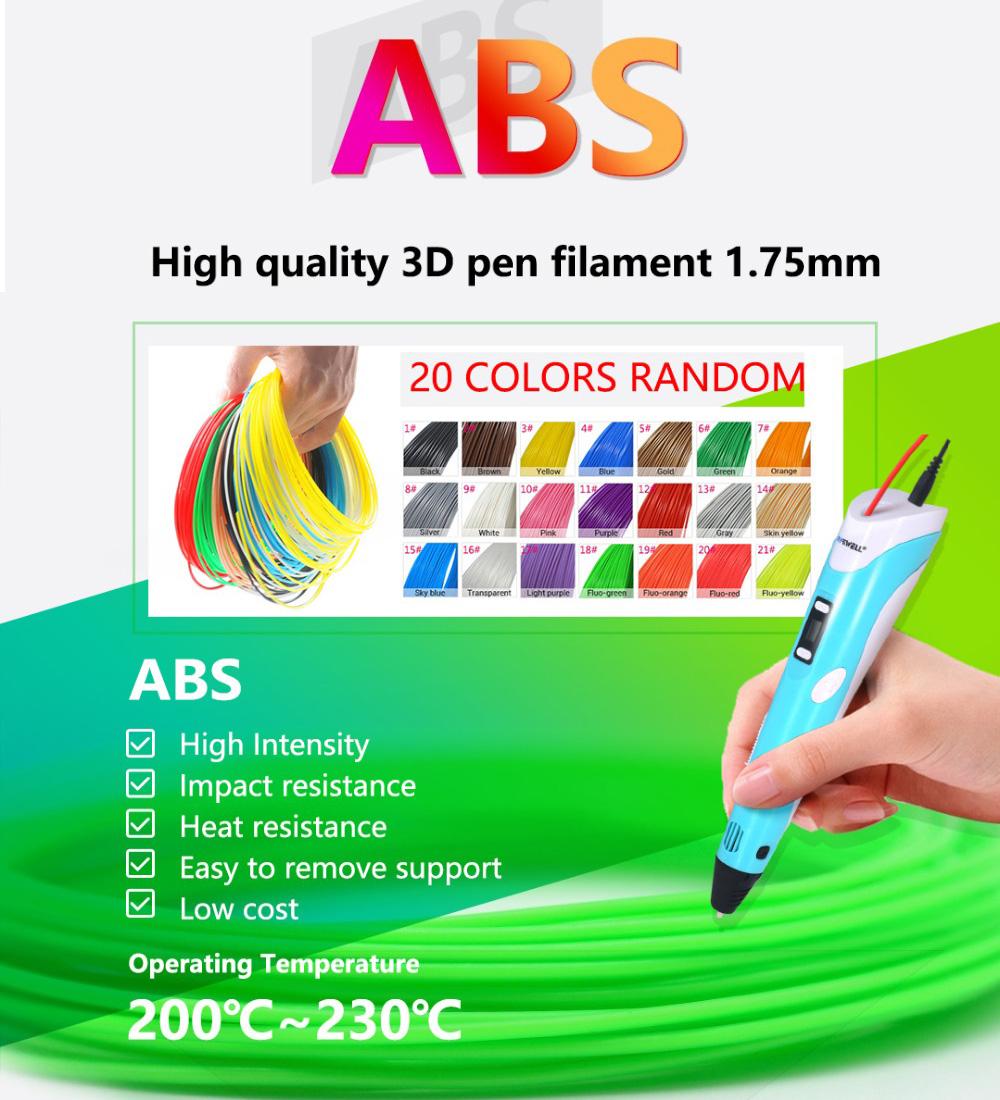 1.75mm 3D Printer Pen Print Filament ABS Environmentally Friendly Material -2.jpg