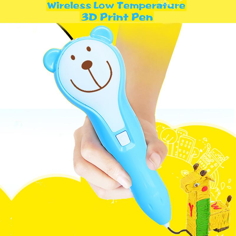 Беспроводная ручка для 3D-печати с расходным материалом PCL Дети рисуют обучающую 3D-ручку Kids Toys-1.jpg