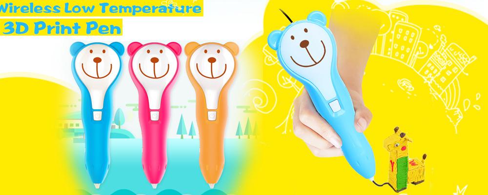 Беспроводная ручка для 3D-печати с расходными материалами PCL Дети Рисование обучающие 3D-ручки Детские игрушки banner1.jpg